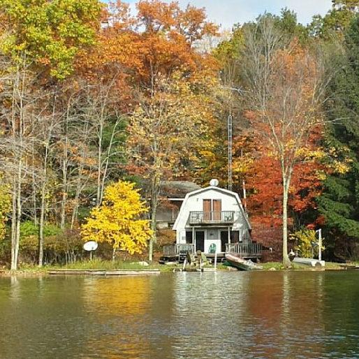 Harper Lake Rental house fall colors